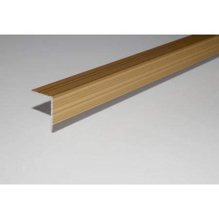 STRATUS eloxált alumínium utólag elhelyezhető lépcső profilok öntapadós kivitelben 30x30 mm 270 cm