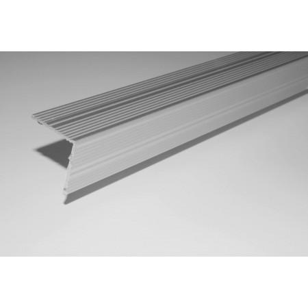 STRATUS eloxált alumínium utólag elhelyezhető lépcső profilok öntapadós kivitelben 20x20 mm 270 cm