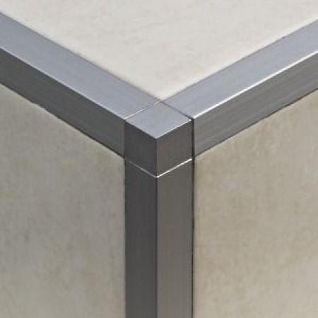 Alu Q 10 mm profilhoz sarok elem 2 db/csomag / Cement szürke/