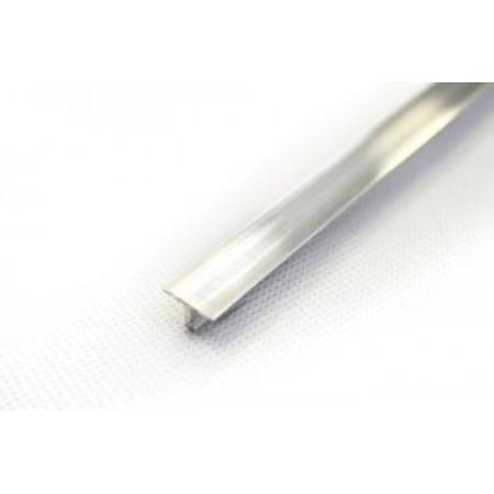Polírozott eloxált alumínium FÉNYES T profil